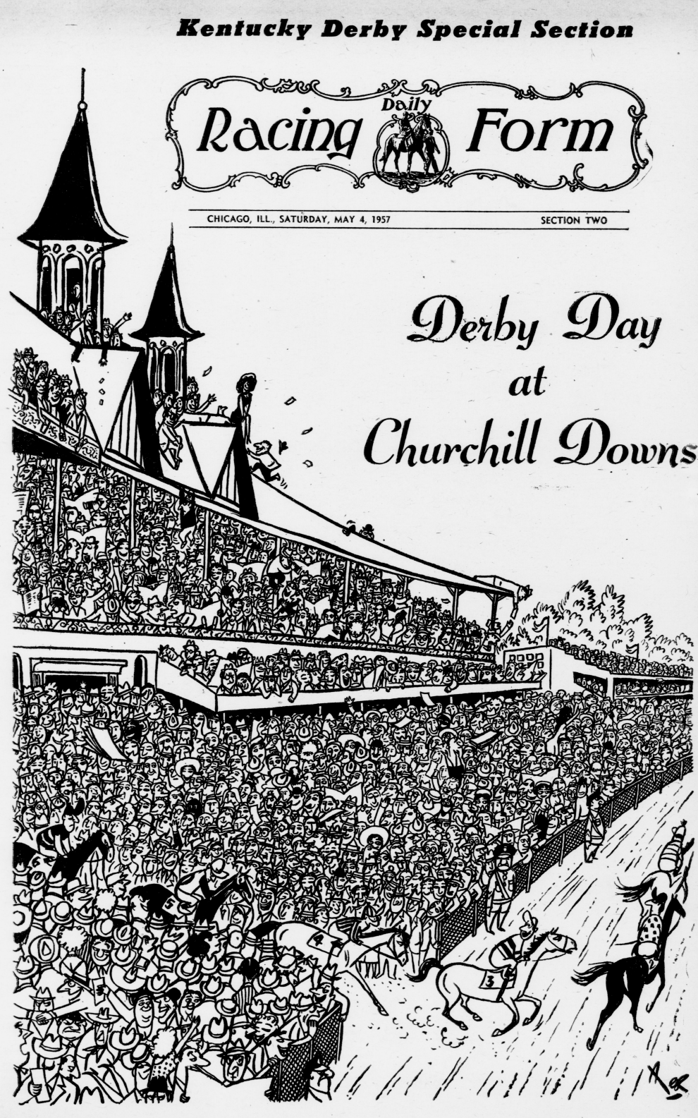 Derby Day At Churchill Downs, Daily Racing Form, 1957 05 04